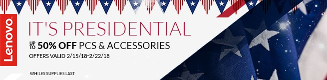 50% off- President's Day Sale- February 15-22, 2018