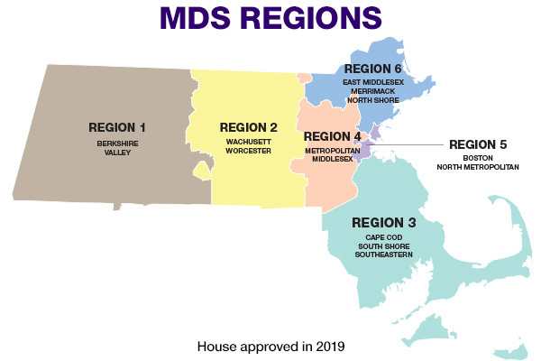 MDS Regions map