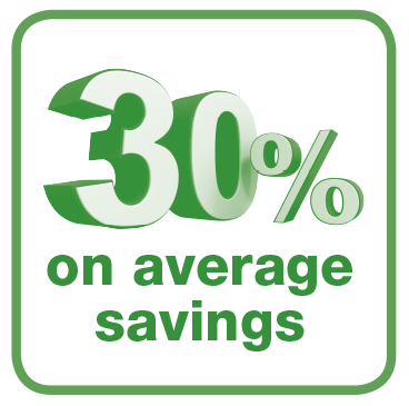 30% on Average Savings
