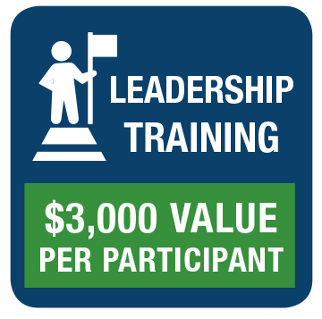 $3,000 Value Per Participant in Leadership Training