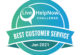 LiveHelpNow Award Jan 2021
